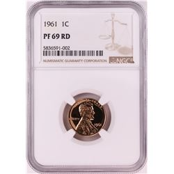 1961 Proof Lincoln Memorial Cent Coin NGC PF69RD