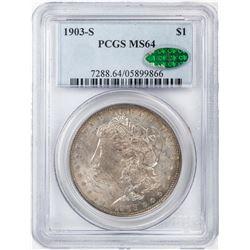 1903-S $1 Morgan Silver Dollar Coin PCGS MS64 CAC
