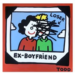 "Todd Goldman ""Ex-Boyfriend"" Original Acrylic Painting on Canvas"