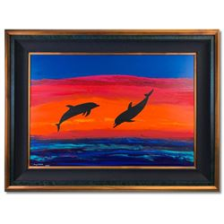 "Wyland ""Island Time"" Original Painting Framed"