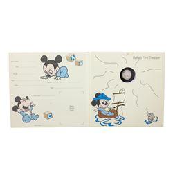 Rarities Mint Disney Baby's First Treasure It's A Baby Boy 1/10 oz..999 Fine Silver Round