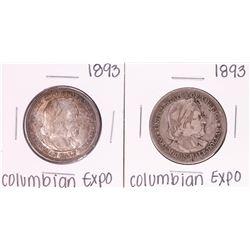 Lot of (2) 1893 Columbian Expo Commemorative Half Dollar Coins
