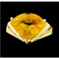14KT Yellow Gold Ladies 4.00 ctw Citrine Ring