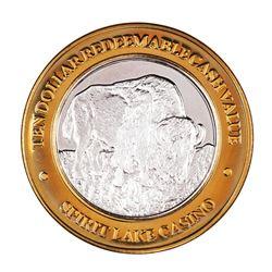 .999 Silver Spirit Lake Casino Spirit Lake, ND $10 Limited Edition Casino Gaming Token