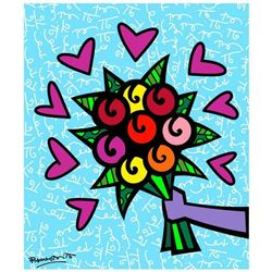 """Romero Britto """"Thank You"""" Limited Edition Giclee"""