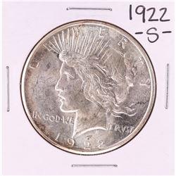 1922-S $1 Peace Silver Dollar Coin