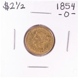 1854-O $2 1/2 Liberty Head Quarter Eagle Gold Coin