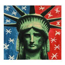 "Steve Kaufman (1960-2010) ""Liberty Head"" Limited Edition Silkscreen on Canvas"
