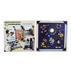 "1988 Rarities Mint Disney Mickey ""Steamboat Willie"" 1/10 oz. .999 Fine Silver Round"