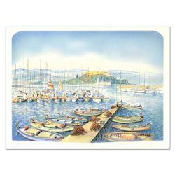 """Rolf Rafflewski """"Docks"""" Limited Edition Lithograph"""