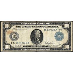 1914 $100 Federal Reserve Note New York