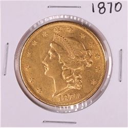 1870 $20 Liberty Head Double Eagle Gold Coin