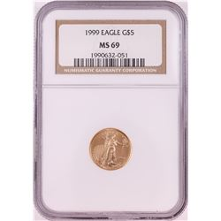 1999 $5 American Gold Eagle Coin NGC MS69