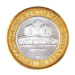 .999 Silver Westward Ho Casino Las Vegas, NV $10 Casino Limited Edition Gaming Token