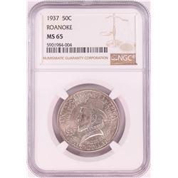 1937 Roanoke Commemorative Half Dollar Coin NGC MS65