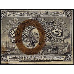 March 3, 1863 Twenty-Five Cents Second Issue Fractional Currency Note