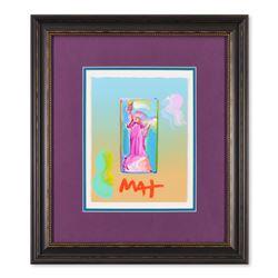 "Peter Max ""Statue of Liberty"" Original Mixed Media Acrylic on Paper"