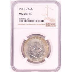 1961-D Franklin Half Dollar Coin NGC MS64FBL