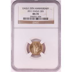 2011 $5 American Gold Eagle Coin NGC MS70