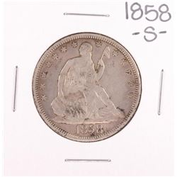 1858-S Seated Liberty Half Dollar Coin
