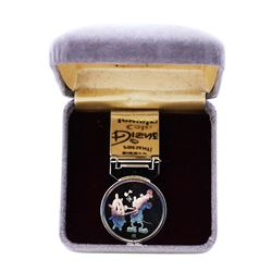 1987 Disney Rarities Mint Money Clip Steamboat Willie 1/4 oz .999 Fine Silver Medal