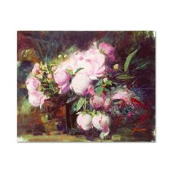 "Pino (1939-2010) ""Peonies"" Limited Edition Giclee on Canvas"