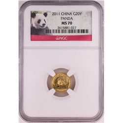 2011 China 20 Yuan Panda Gold Coin NGC MS70