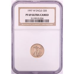 1997-W $5 Proof American Gold Eagle Coin NGC PF69 Ultra Cameo