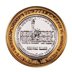 .999 Silver New York New York Hotel & Casino $10 Limited Edition Gaming Token