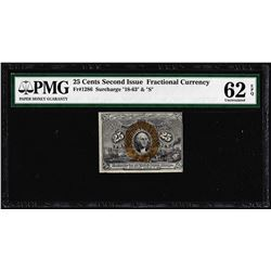 1863 25 Cents Second Issue Fractional Note Fr.1286 PMG Uncirculated 62EPQ