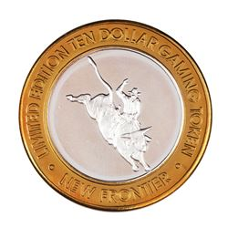 .999 Silver The New Frontier Las Vegas $10 Casino Limited Edition Gaming Token