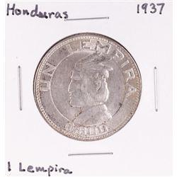 1937 Honduras 1 Lempira Silver Coin