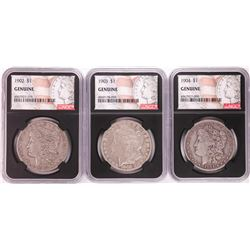 Lot of 1902-1904 $1 Morgan Silver Dollar Coins NGC Genuine