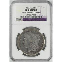 1879-CC $1 Morgan Silver Dollar Coin NGC Fine Details