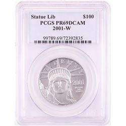 2001-W $100 Proof American Platinum Eagle Coin PCGS PR69DCAM