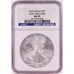2010 $1 American Silver Eagle Coin NGC MS70 Early Releases