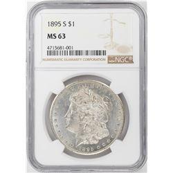1895-S $1 Morgan Silver Dollar Coin NGC MS63