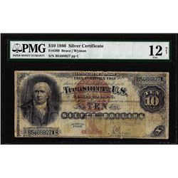 1880 $10 Silver Certificate Note Fr.289 PMG Fine 12 Net