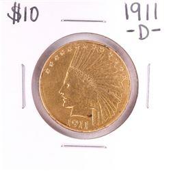 1911-D $10 Indian Head Eagle Gold Coin