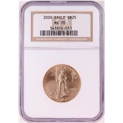 2000 $25 American Gold Eagle Coin NGC MS70