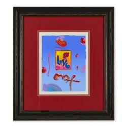 "Peter Max ""Love"" Original Mixed Media Acrylic on Paper"