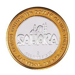 .999 Silver Sahara Hotel & Casino Las Vegas $10 Casino Limited Edition Gaming Token