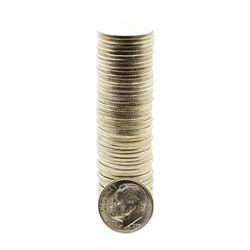 Roll of (50) Brilliant Uncirculated 1953-D Roosevelt Dime Coins