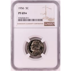1956 Proof Jefferson Nickel Coin NGC PF69* STAR