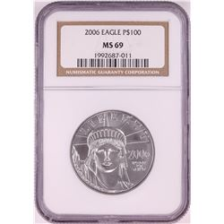 2006 $100 Platinum American Eagle Coin NGC MS69