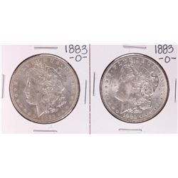 Lot of (2) 1883-O $1 Morgan Silver Dollar Coins