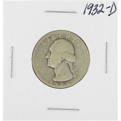 1932-D Washington Quarter Coin