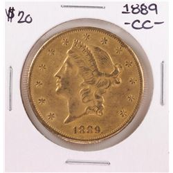 1889-CC $20 Liberty Head Double Eagle Gold Coin