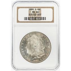 1880-S $1 Morgan Silver Dollar Coin NGC MS66