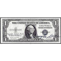 1935G $1 Silver Certificate Note with Dual Courtesy Autographs